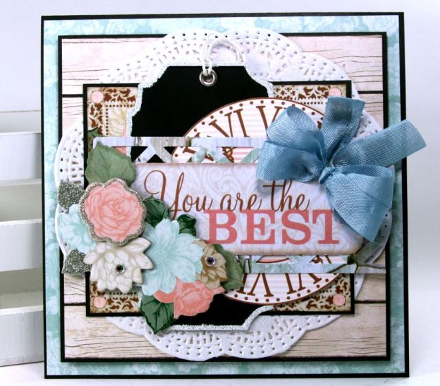 Chalkboard Tag Greeting Cards by Ginny Nemchak using BoBunny Felicity