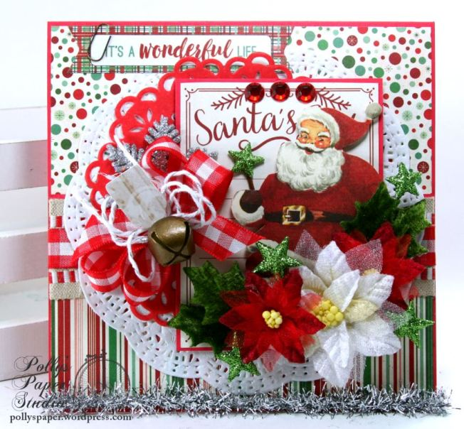 It's a Wonderful Life Christmas Greeting Card Polly's Paper Studio Handmade 02