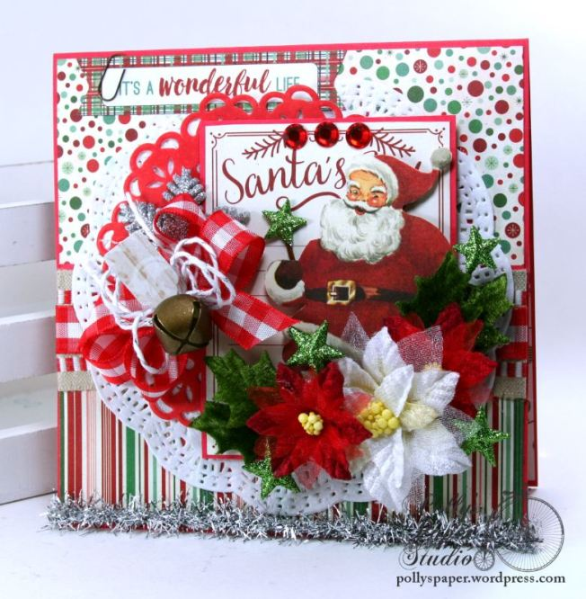 It's a Wonderful Life Christmas Greeting Card Polly's Paper Studio Handmade 01