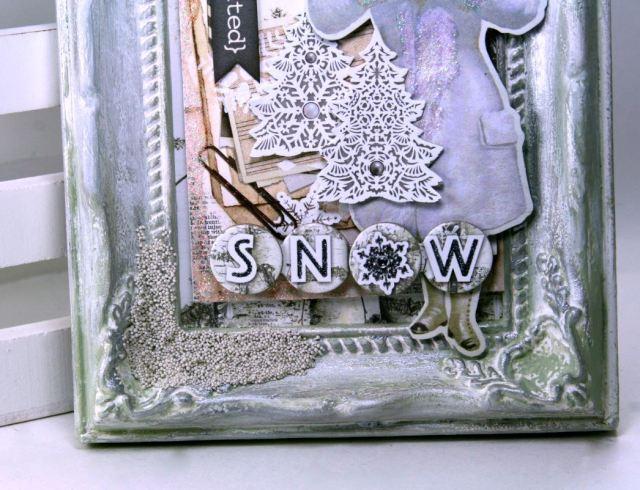 Winter Snow Angel Frame by Ginny Nemchak using BoBunny  Winter Wishes