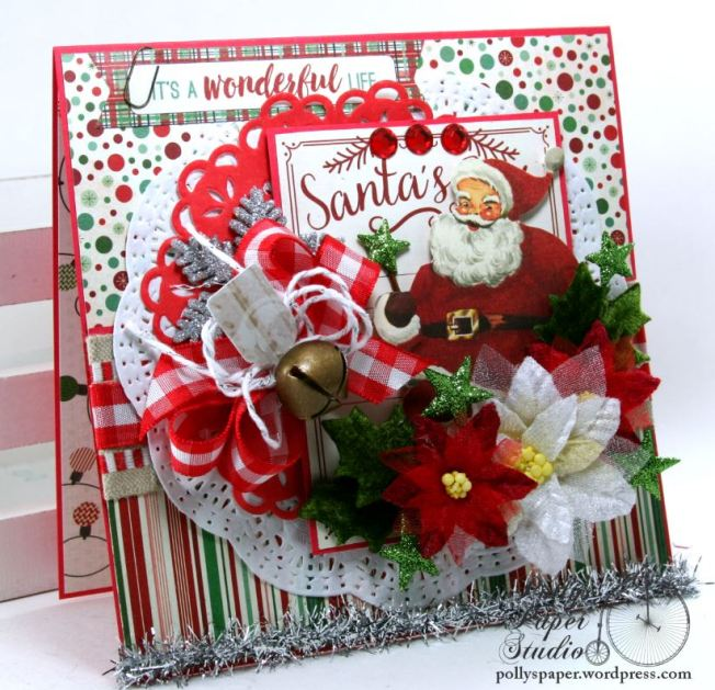 It's a Wonderful Life Christmas Greeting Card Polly's Paper Studio Handmade 03