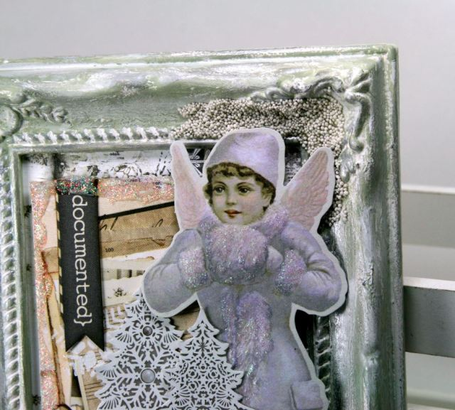 Winter Snow Angel Frame by Ginny Nemchak using BoBunny  Winter Wishes