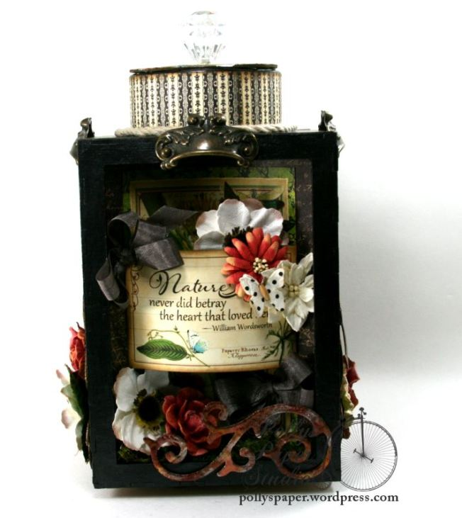 Natures Skethcbook Florals Spinning Shadow Box Display Polly's Paper Studio 06