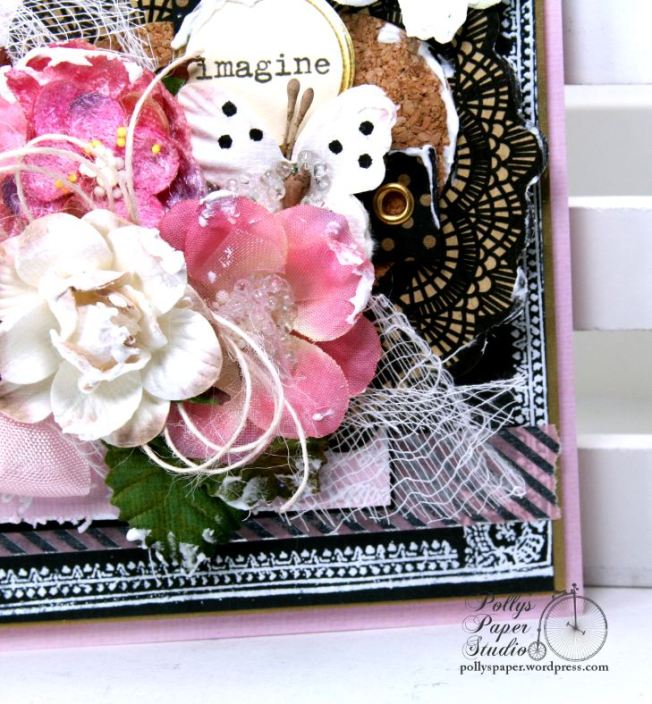 Imagine Butterfly Shabby Chic Greeting Card Polly's Paper Studio 05