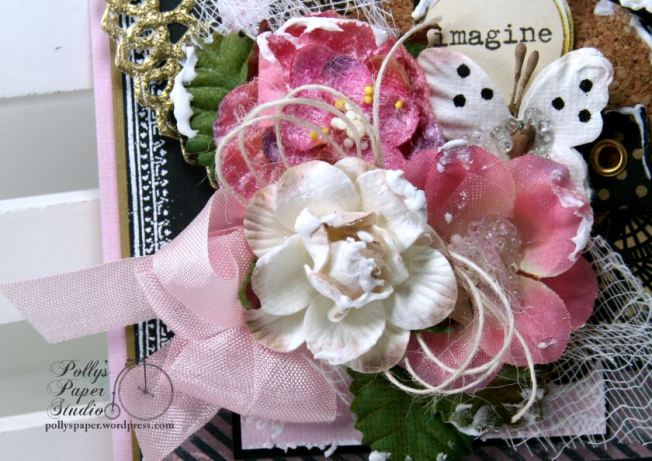 Imagine Butterfly Shabby Chic Greeting Card Polly's Paper Studio 02