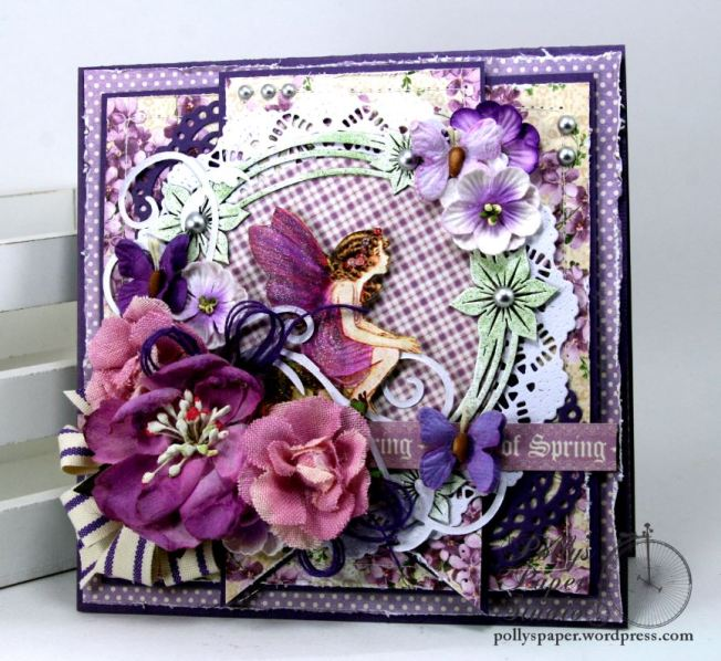 Think Spring Vintage Inspired Greeting Card Holiday Home Decor Polly's Paper Studio 05
