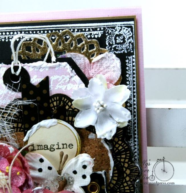 Imagine Butterfly Shabby Chic Greeting Card Polly's Paper Studio 04
