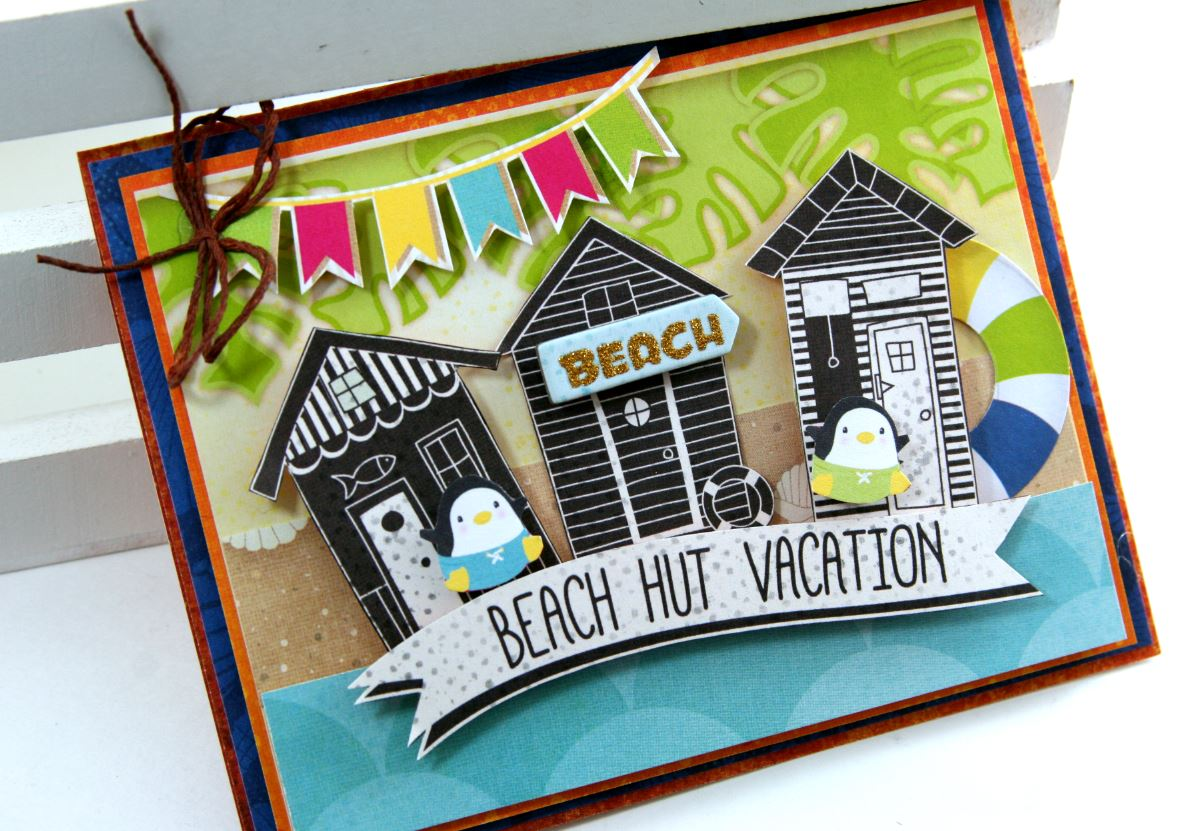 Make a splash cards with video tutorial pollys paper studio this card was inspired by the oh so cute little cabana houses that i fussy cut from the 12 x 12 patterned papers theres elements from noteworthy and the kristyandbryce Image collections
