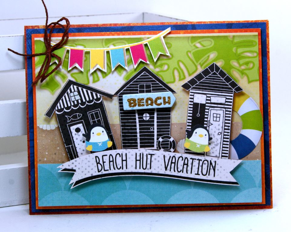 Make a splash cards with video tutorial pollys paper studio i totally want to go on a beach hut vacay with these little dudes this card was inspired by the oh so cute little cabana houses that i fussy cut from the m4hsunfo