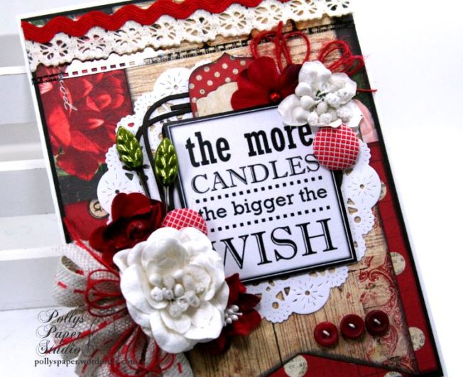The More Candles Birthday Greeting Card Polly's Paper Studio 01