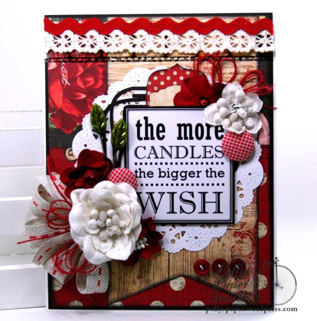 The More Candles Birthday Greeting Card Polly's Paper Studio 02