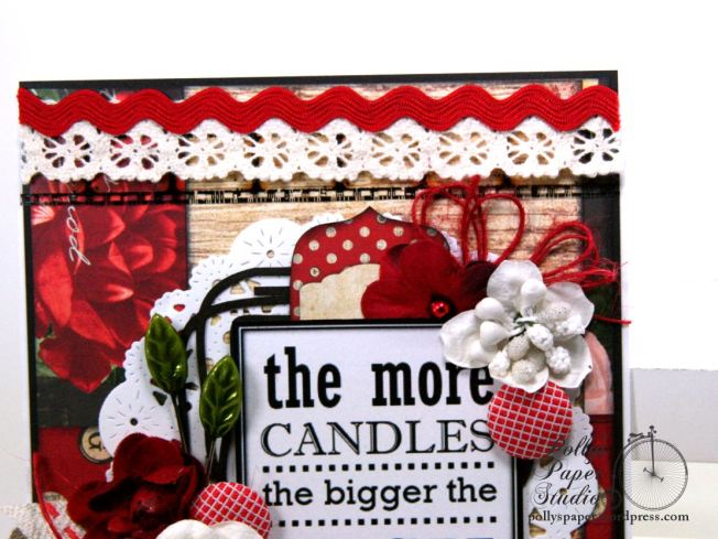 The More Candles Birthday Greeting Card Polly's Paper Studio 04