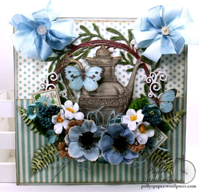 Mother's Day Tea Wall Hanging Petaloo Creative Embellishments Polly's Paper Studio 01