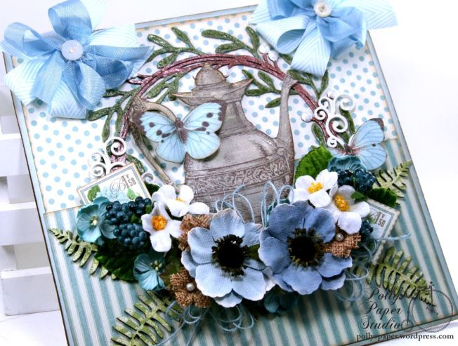 Mother's Day Tea Wall Hanging Petaloo Creative Embellishments Polly's Paper Studio 05