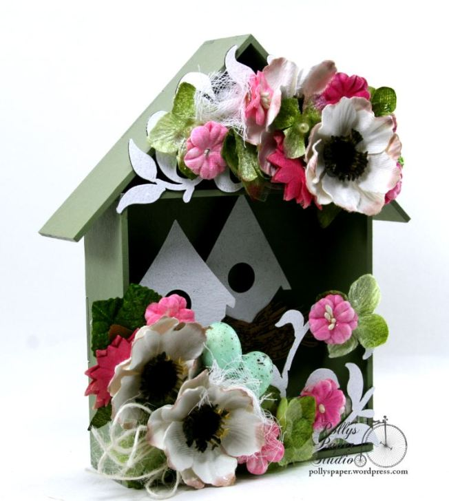 Spring  Birdhouse Shadow Box Polly's paper Studio 02