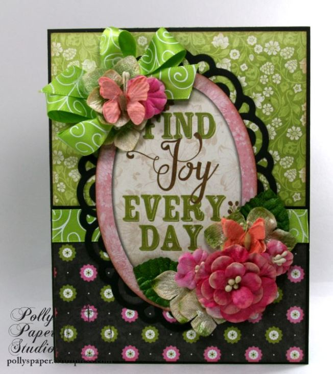Find Joy Every Day All Occasion Greeting Card Polly's Paper Studio 01