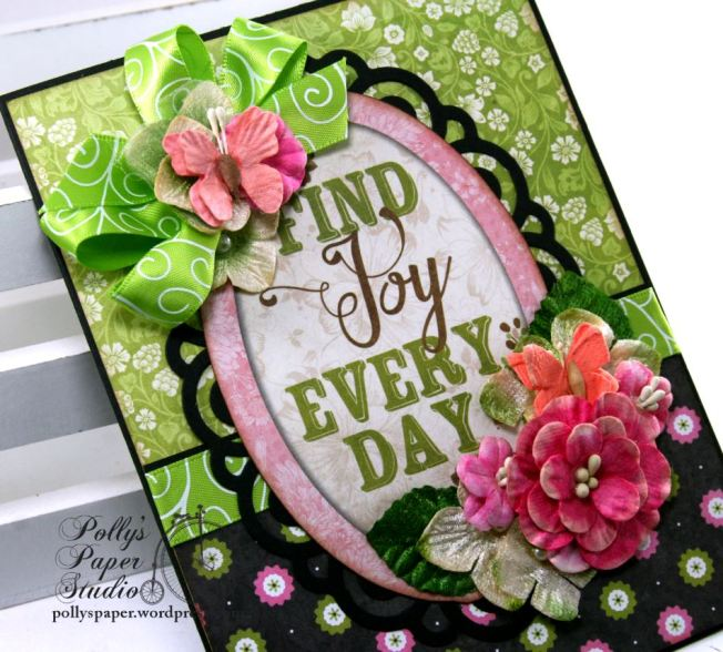 Find Joy Every Day All Occasion Greeting Card Polly's Paper Studio 04