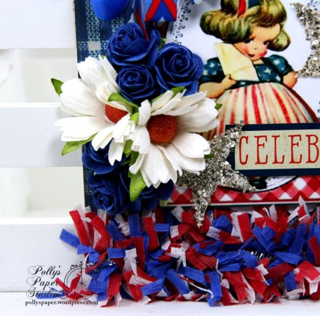 Celebrate Patriotic House Tag Holiday Home Decor Polly's Paper Studio 03