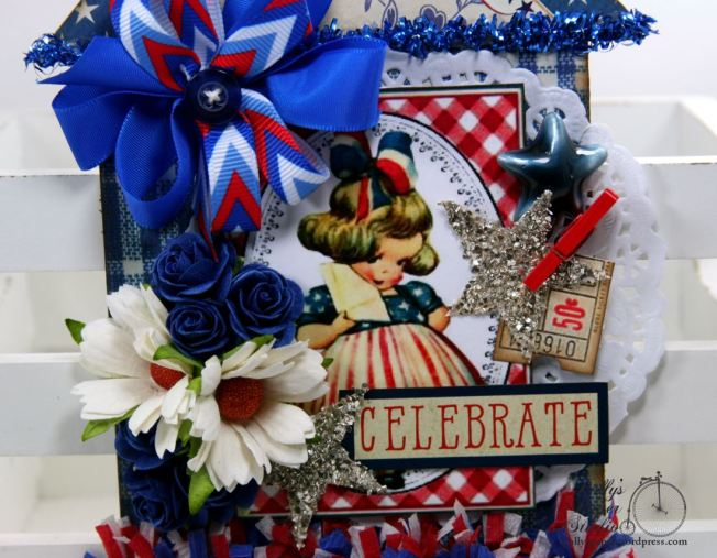 Celebrate Patriotic House Tag Holiday Home Decor Polly's Paper Studio 04