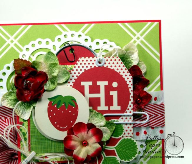 Hello Summer Strawberry All Occasion Greeting Card Polly's Paper Studio 04