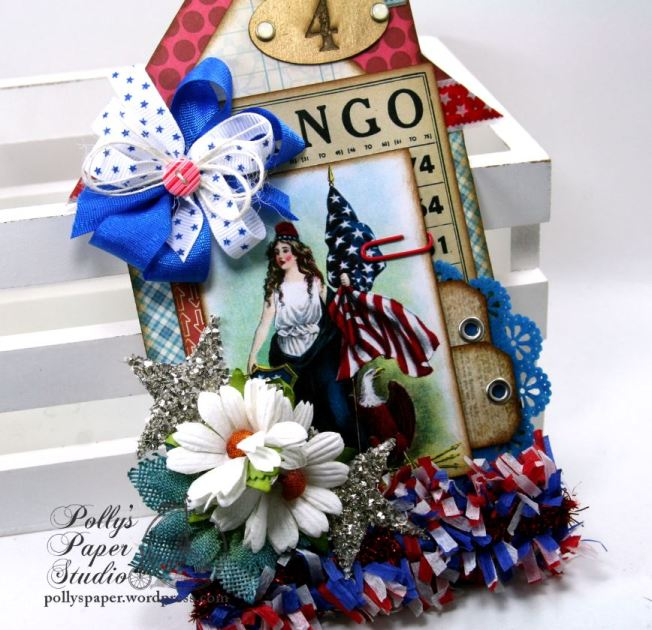 Lady Liberty House Tag Patriotic Holiday Home Decor Polly