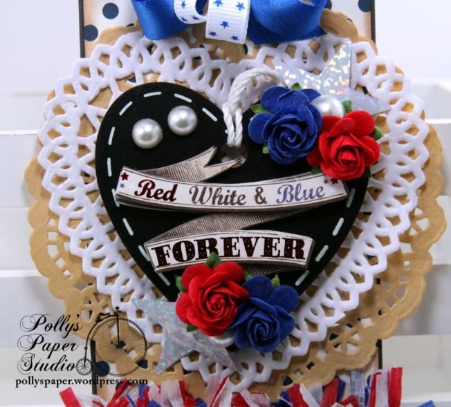 Red White And Blue Forever Patriotic Tag Holiday Home Decor Polly's Paper Studio 04