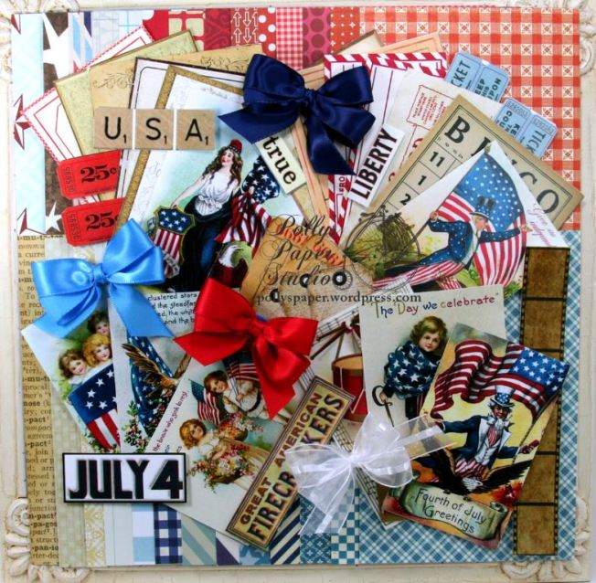 Stars and Stripes Patriotic Creativity Kit 2017 Polly's Paper Studio 01