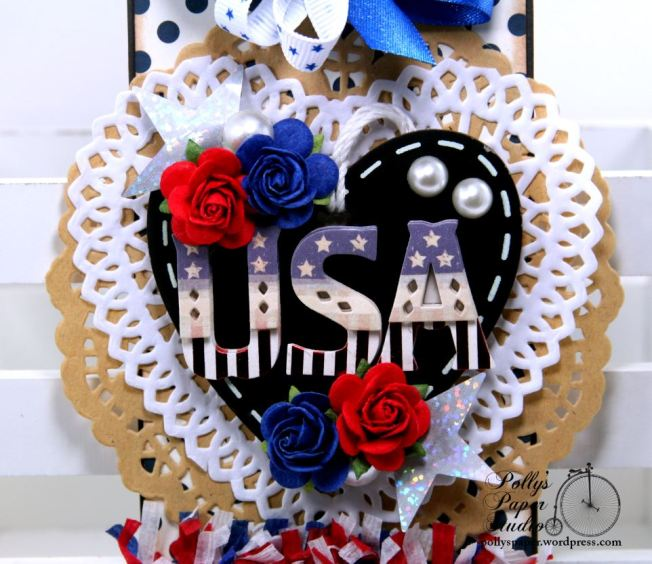 USA Patriotic Tag Holiay Home Decor Polly's Paper Studio 02