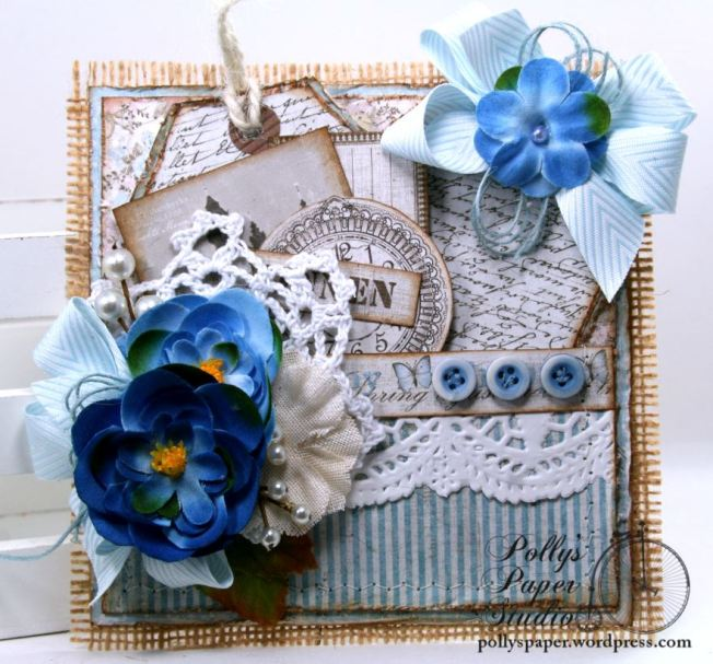 Blue Pocket with Tags Party Favor Polly's Paper Studio 01