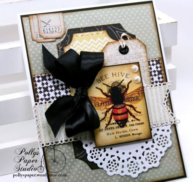 Bee Hive Greeting Card All Occasion Polly's Paper Studio 01