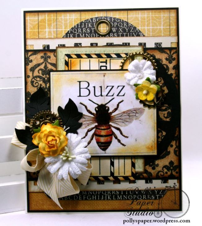 Buzz Bee Greeting Card All Occason Polly's Paper Studio 02