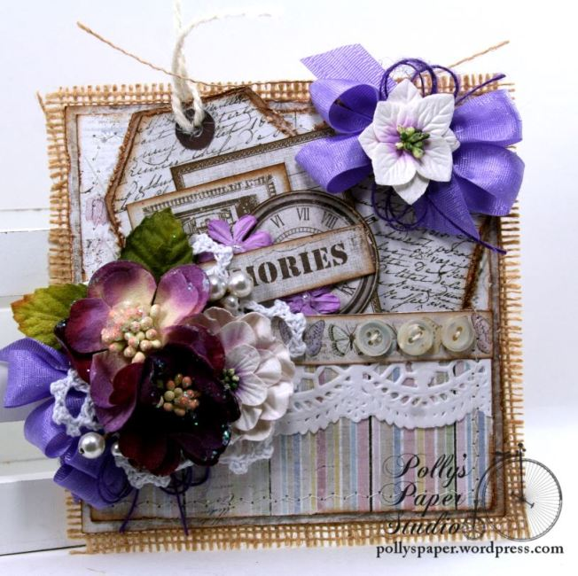 Purple Pocket with Tags Party Favor Polly's Paper Studio 01