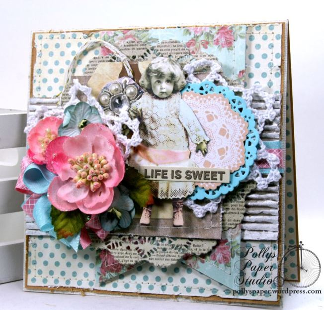 Life is Sweet All Occasion Greeting Card Polly's Paper Studio 01