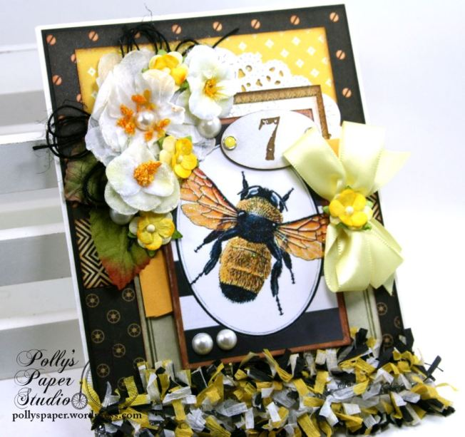 Vintage Bee Greeting Card All Occasion Polly's Paper Studio 04