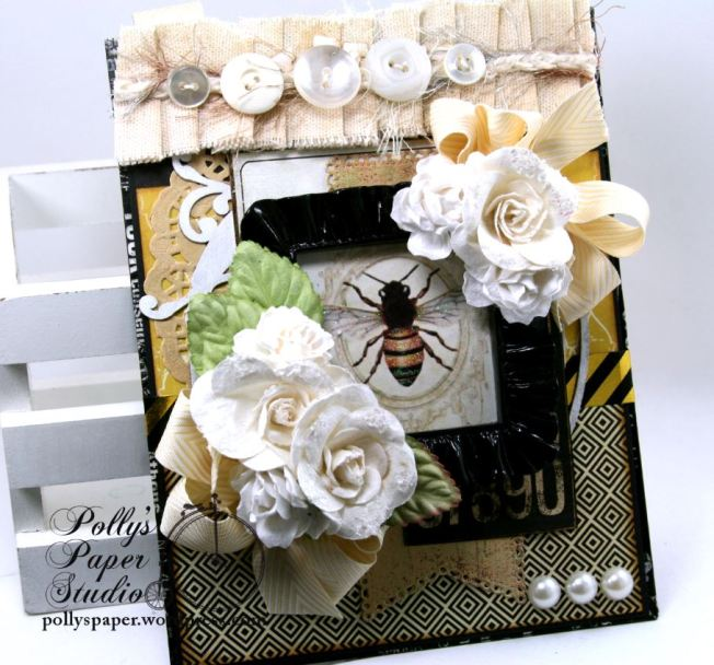 Vintage Bee Wall Hanging Home Decor Polly's Paper Studio 02