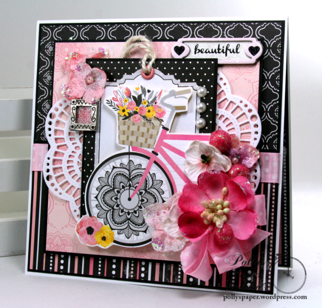 Beautiful Bicycle Greeting Card All Occasion Polly's Paper Studio 01