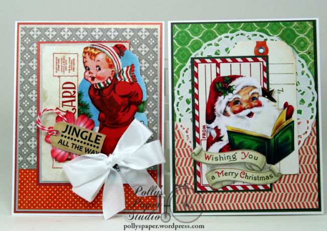 Retro Christmas Deluxe Creativity Kit 2017 Polly's Paper Studio 03
