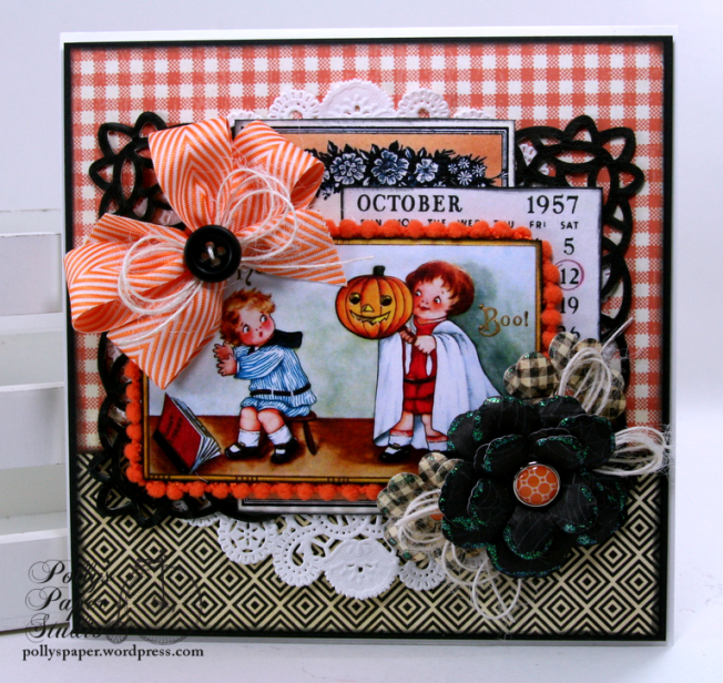 Boo Halloween Greeting Card Polly's Paper Studio 01