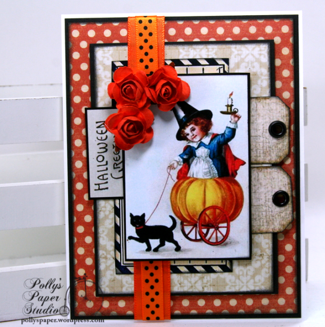 Halloween Greetings Card Polly's Paper Studio 01
