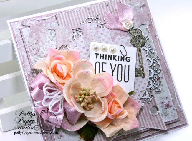 Thinking of You Greeting Card Polly's Paper Studio 01