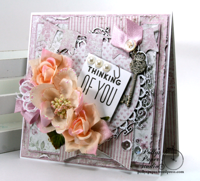 Thinking of You Greeting Card Polly's Paper Studio 02
