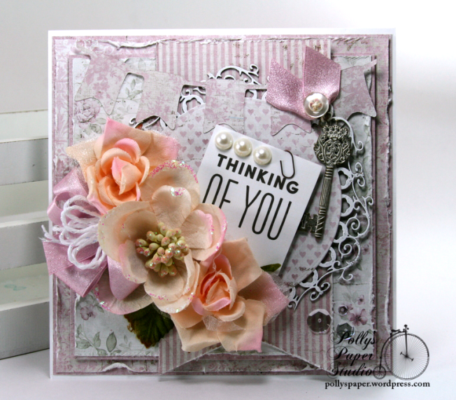 Thinking of You Greeting Card Polly's Paper Studio 03