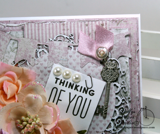 Thinking of You Greeting Card Polly's Paper Studio 05