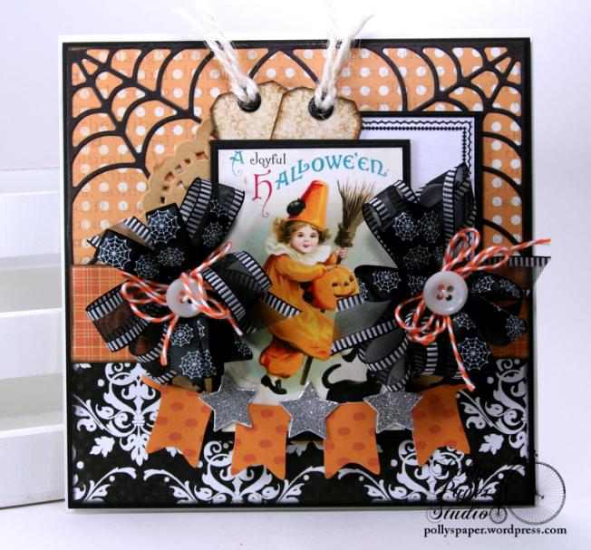A Joyful Halloween Greeting Card Polly's Paper Studio 01