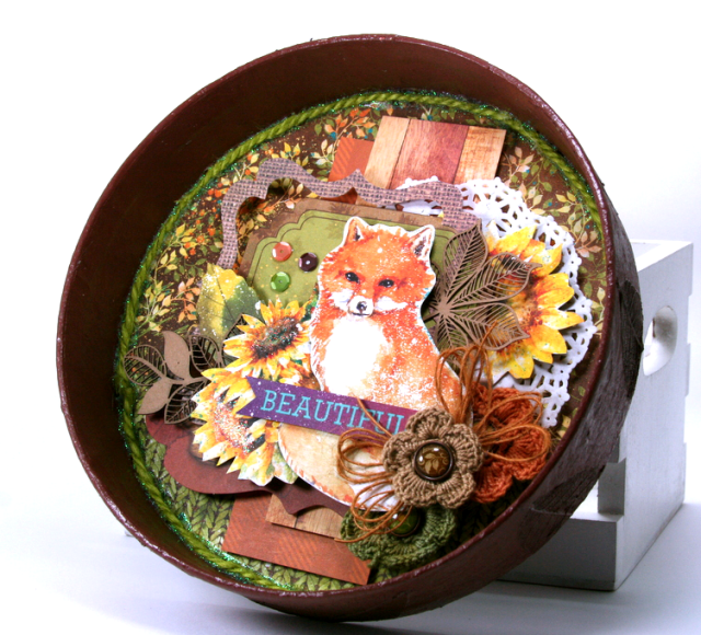 Beautiful Fox Fall Decor by Ginny Nemchak using BoBunny Dreams of Autumn