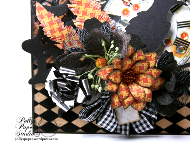 As the Crow Flies Halloween Greeting CArd Polly's Paper Studio Handmade 03