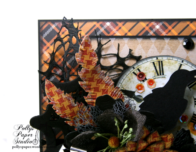 As the Crow Flies Halloween Greeting CArd Polly's Paper Studio Handmade 04