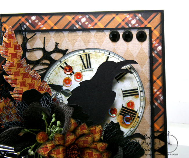 As the Crow Flies Halloween Greeting CArd Polly's Paper Studio Handmade 05