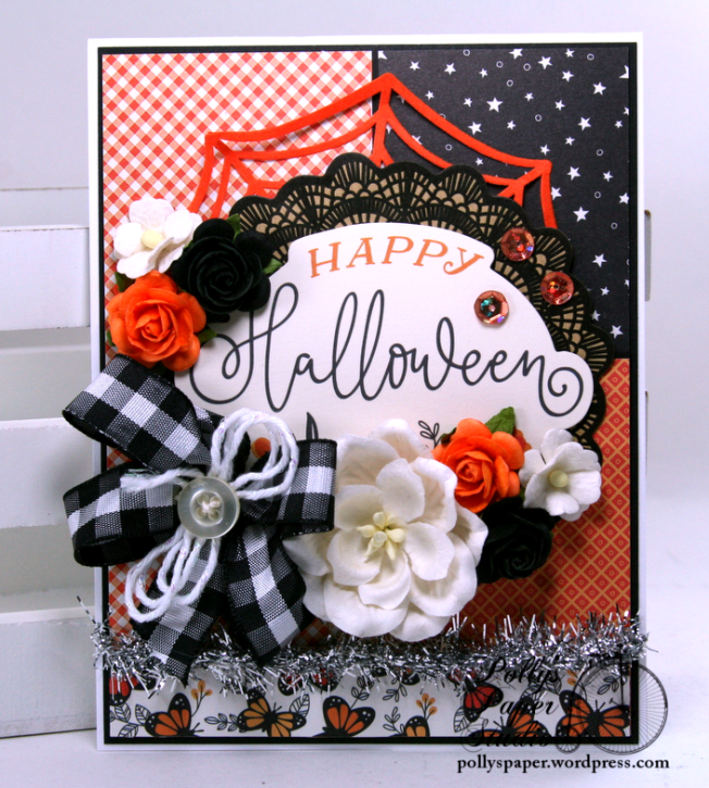 Happy Halloween Greeting Card Polly's Paper Studio 01