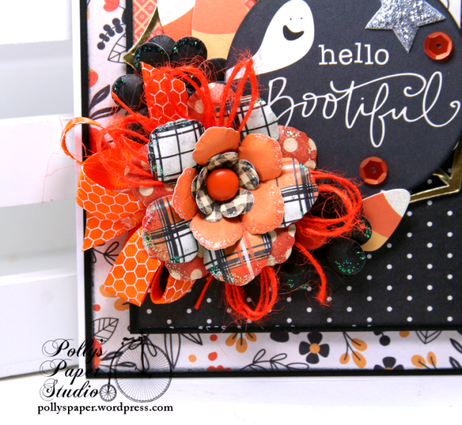 Hello Bootiful Halloween Greeting Card Polly's Paper Studio 03